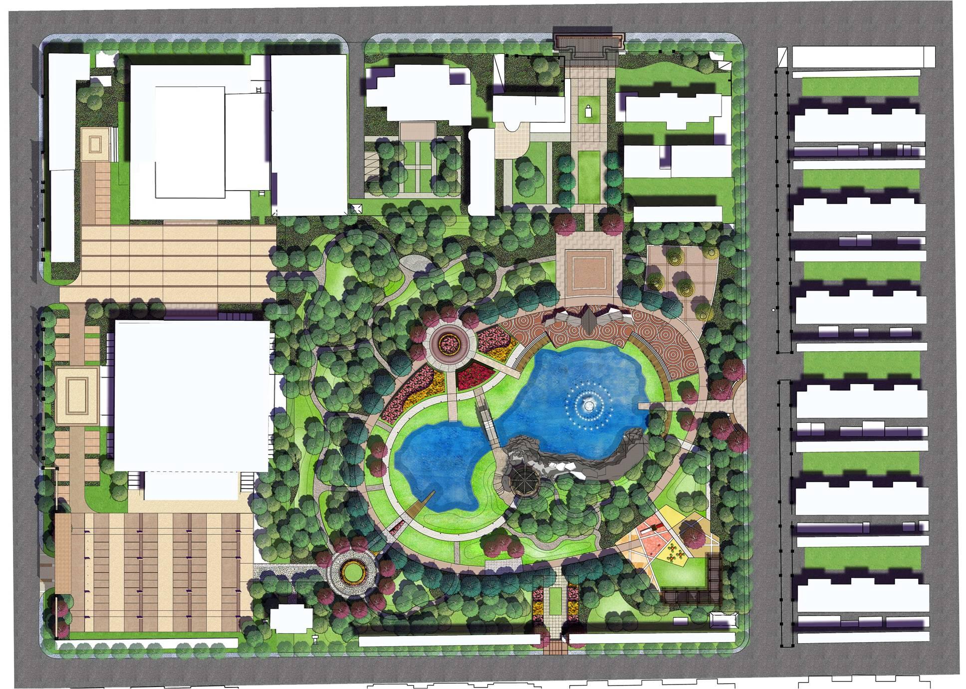 小游园用地总平面图的下载地址,园林方案设计,街头绿地,园林景观 宽